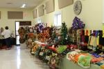 Beautiful crafts in Fellowship Hall