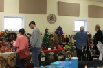 Craft booths in Fellowship Hall